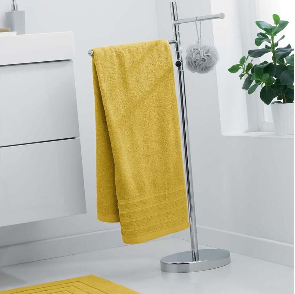 Měkký ručník žluté barvy 70 x 130 cm