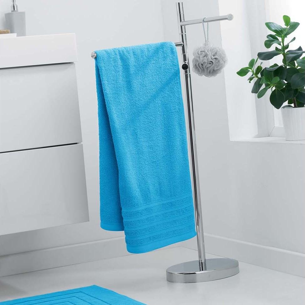 Modrá osuška s vysokou savostí 70 x 130 cm