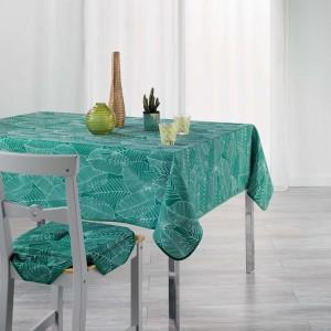 Ubrus do kuchyně zelené barvy s listovým vzorem GATSBY