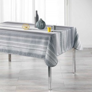 Vzorovaný ubrus do jídelny šedé barvy CHACANA 150 x 240 cm