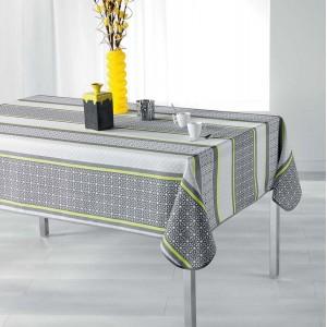 Kvalitní ubrus na jídelní stůl šedo žluté barvy FELIZ