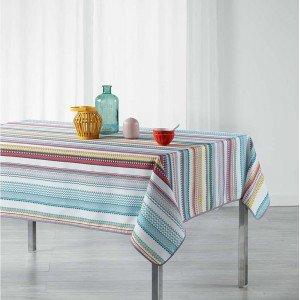 Proužkovaný kuchyňský ubrus barevný CALY