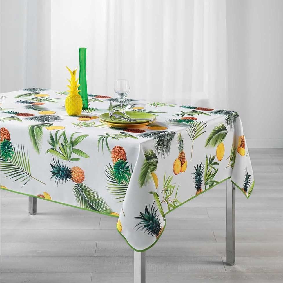 Ubrus na stůl s pestrým potiskem FRESH ANANAS 150 x 240 cm