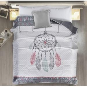 Moderní přehoz na postel s barevným potiskem