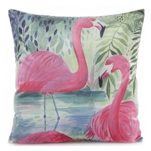 Stylové povlaky na polštáře v motivem růžových pelikánů
