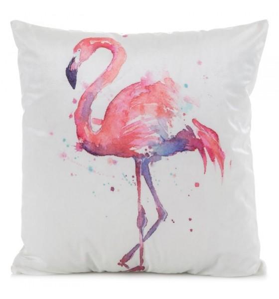 Bílý dekorační povlak na polštáře s motivem pelikána