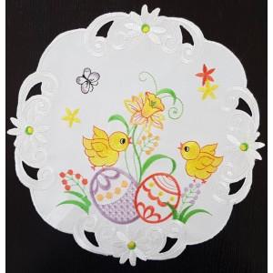 Dekorační ubrus s vyšíváním na Velikonoce