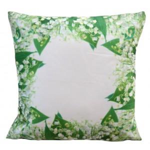 Zelený dekorační povlak s motivem květů