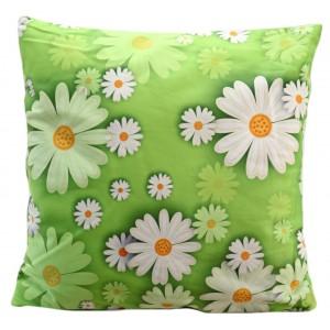 Barevný povlak na polštář s květinovým motivem