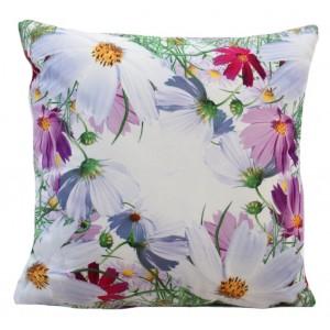 Dekorační povlak na polštář s motivem barevných květin