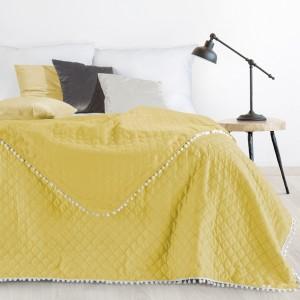Kvalitní prošívaný přehoz na postel žluté barvy