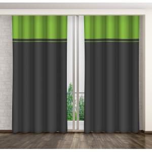 Šedě zelený dekorační závěs do obýváku