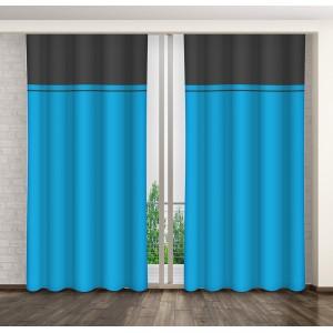 Hotový dekorační závěs na okno modré barvy