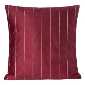 Ozdobní dekorační povlak na polštář v bordó barvě