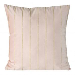 Luxusní povlak na polštář v růžové barvě