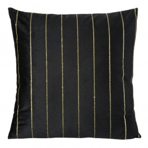Černý povlak na polštář se zlatou aplikací
