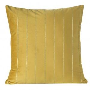 Dekorační povlaky na polštáře zlaté barvy 45x45 cm