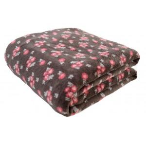 Luxusní jemná deka s motivem květin