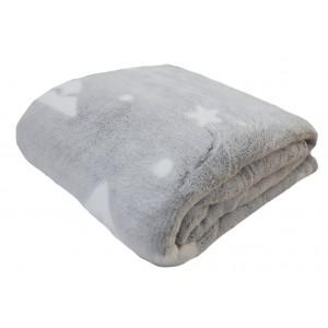 Luxusní hebká deka šedé barvy