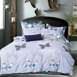 Luxusní měkké povlečení modro šedé barvy
