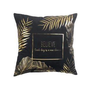 Stylový Francouzský dekorační polštář černé barvy