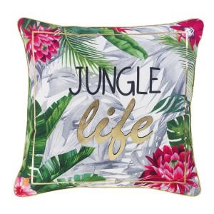 Originální barevný polštář s exotickým motivem