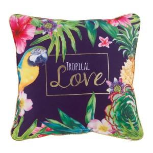 Luxusní pestrobarevný polštář s tropickým motivem