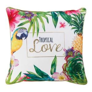 Ozdobný polštář do ložnice Tropical love