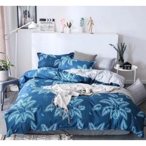 Povlečení modré barvy s moderním exotickým motivem