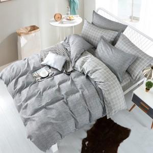 Klasické ložní povlečení z bavlny šedé barvy