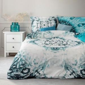 Moderní povlečení z bavlny s motivem tyrkysové barvy