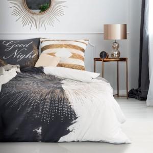 Moderní černo bílé povlečení na jednolůžko z bavlny