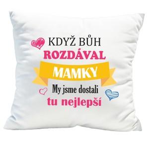 Originální dekorační polštář ke dni matek