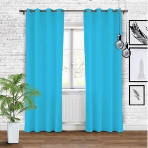 Modrý stínící závěs do obýváku