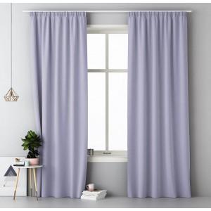 Elegantní fialové závěsy do obýváku