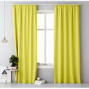 Výrazný závěs ve žluté barvě