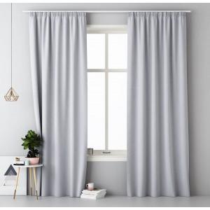 Světle šedý hotový závěs do ložnice 140 x 250 cm