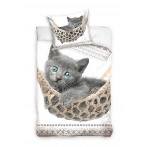 Kvalitní povlečení na postel s kočičkou