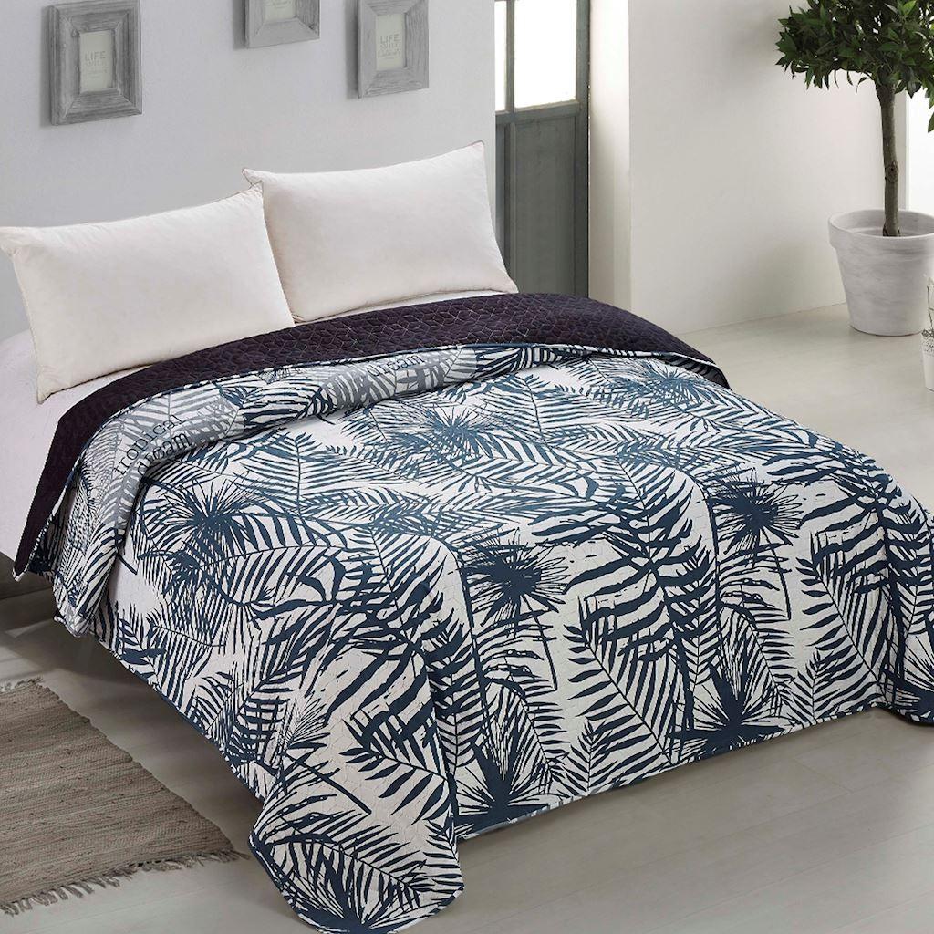 Kvalitní oboustranný přehoz na postel s prošíváním