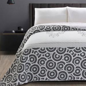 Luxusní černo bílý přehoz na manželskou postel