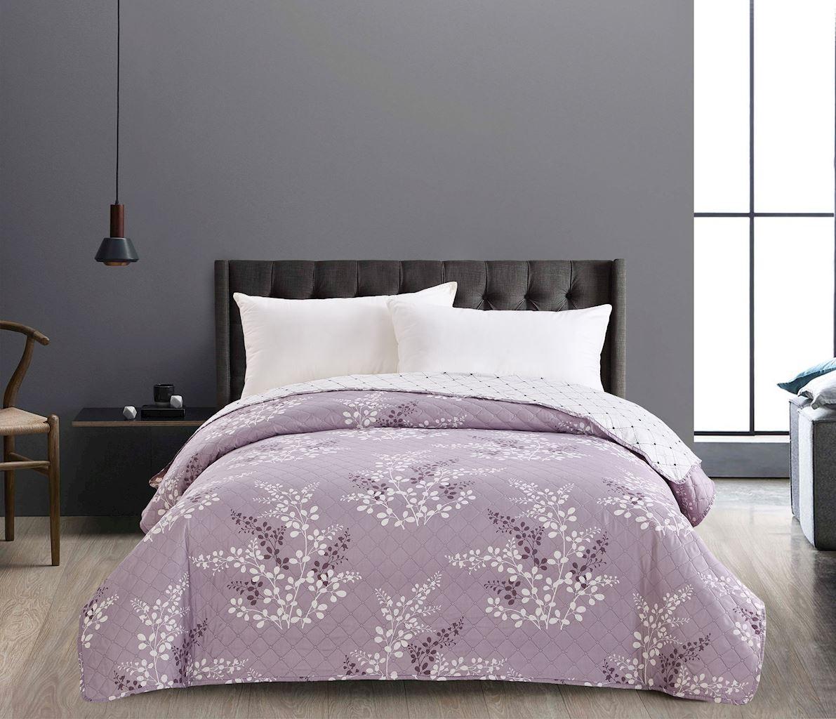Kvalitní přehozy na postel fialové barvy