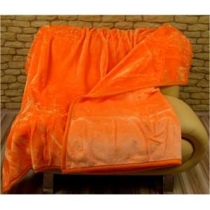 Klasické teplé deky z akrylu oranžové barvy