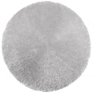 Kulatá dekorativní podložka na stůl ve stříbrné barvě