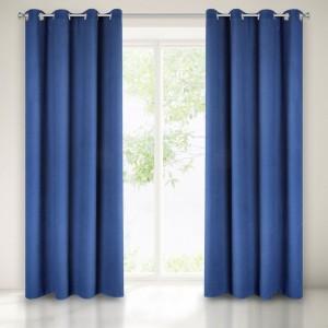 Jednoduchý dekorativní tmavě modrý zatemňovací závěs
