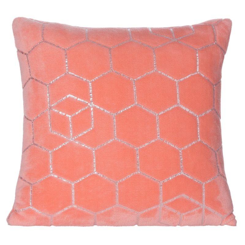 Dekorační povlak na polštář v krásné korálově růžové barvě