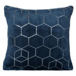 Dekorativní tmavě modrý povlak na polštář 40x40