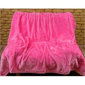 Jemné Hřejivé deky světle růžové barvy