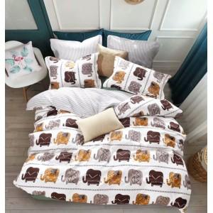 Stylové oboustranné povlečení na postel s motivem slonů