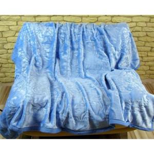 Luxusní deky z akrylu 160 x 210cm svetlo modrá č.32