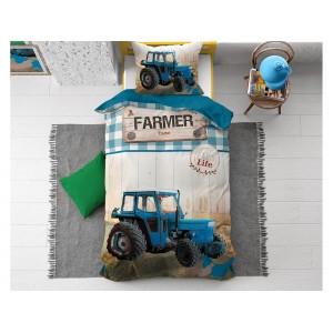 Bavlněné ložní povlečení pro chlapce s velkým potiskem traktoru